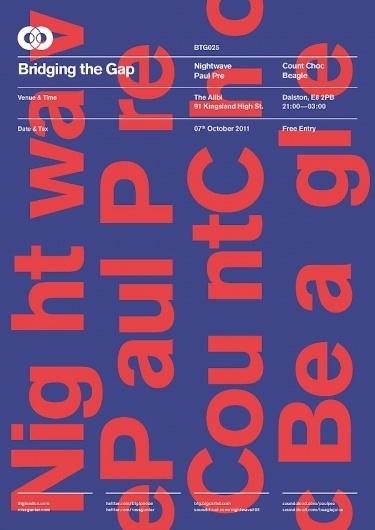 BTG Poster Series on the Behance Network #swiss #gunter #grid #btg #poster #music #type #colour #ross #typography