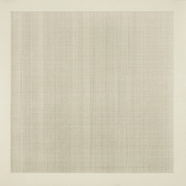 untitled (on the beach with Agnes Martin) | Flickr Photo Sharing! #grid #minimal #agnes #painting #martin