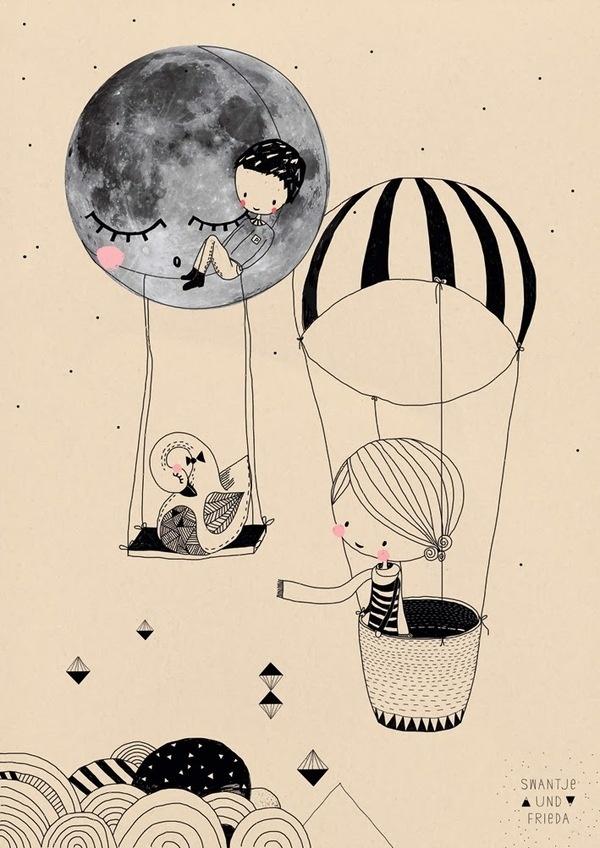 S W A N T J E · U N D · F R I E D A #illustration #cute
