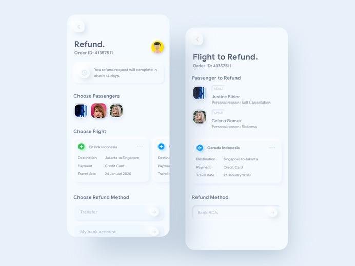 SKEUOMORPH REFUND FLIGHT ⠿ TIKET.COM BY RIAN®