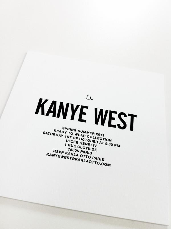KanyeWest Invitation #centered #type #invite
