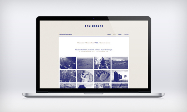 Tom Hooker #photo #monotone #design #photography #passport #blue #layout #web