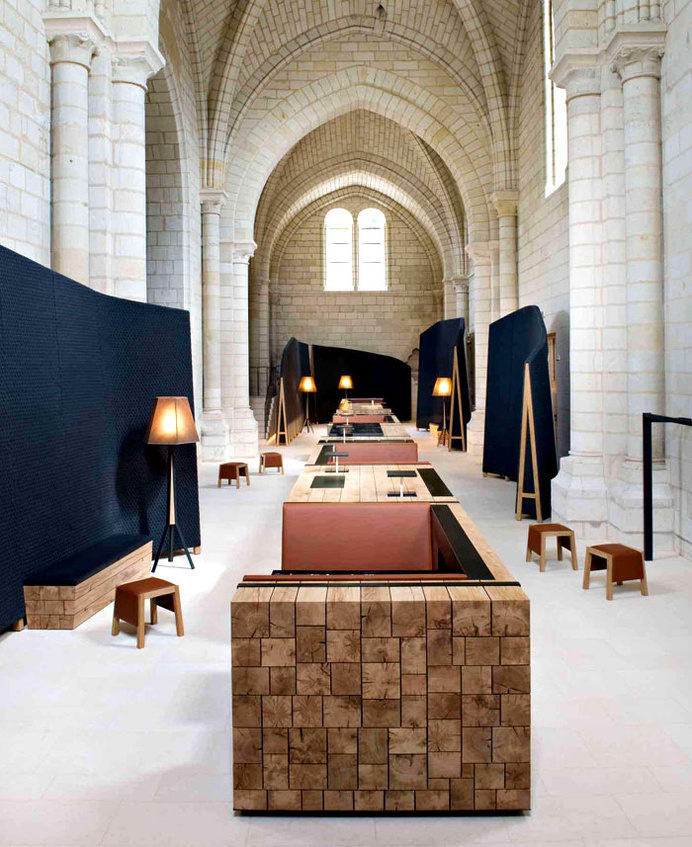 Ancient Monastery Transformed Into a Magnificent Hotel and Restaurant modern decor reinterpretation saint lazare interior #interior #monastery #design #restaurant #hotel