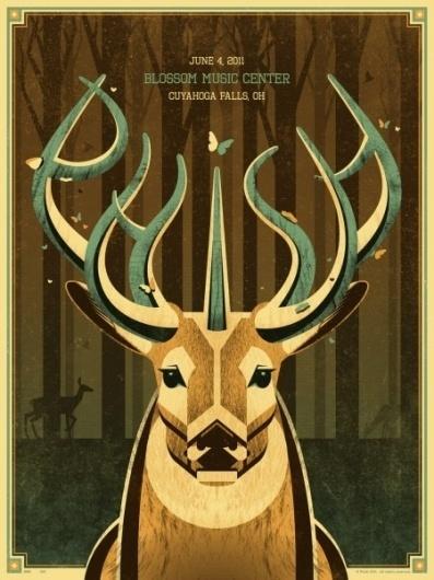 ISO50 Blog – The Blog of Scott Hansen (Tycho / ISO50) #illustration #deer #poster