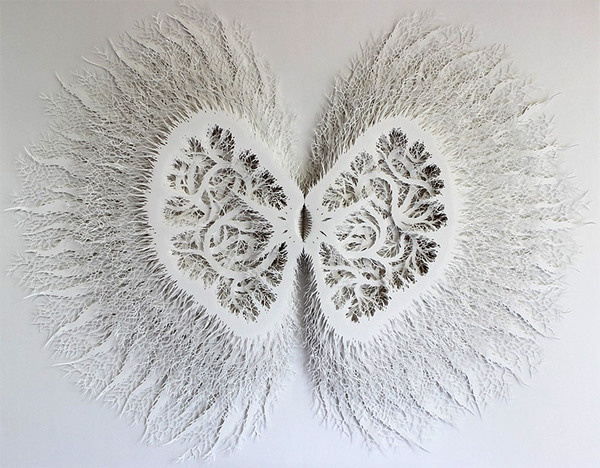 Amazingly Intricate Organic Forms Cut from Paper by Rogan Brown #cut #sculpture #paper #art