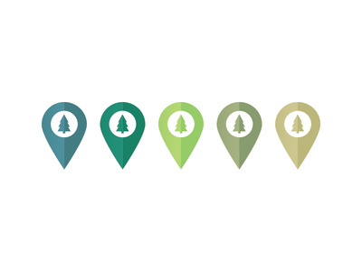 Forest Map Pins #icon #color