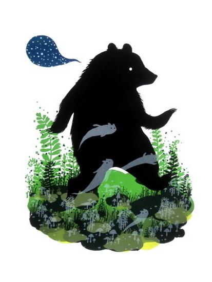 Ghost Bear print by Diana Sudyka #bear #illustration #poster