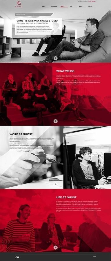 Ghost webdesign #design #interactive #digital #ux ui