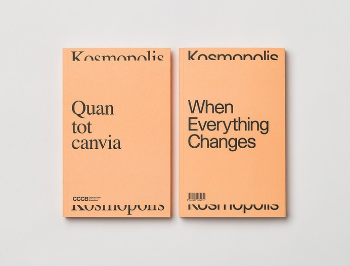"""Kosmopolis Identity - Mindsparkle Mag PFP, disseny designed the identity for Kosmopolis Collection 2019. This is an amplified literature fest that takes place in Barcelona, where artists, writers and philosophers play an active role in the event under the name of """"When Everything Changes"""". #logo #packaging #identity #branding #design #color #photography #graphic #design #gallery #blog #project #mindsparkle #mag #beautiful #portfolio #designer"""