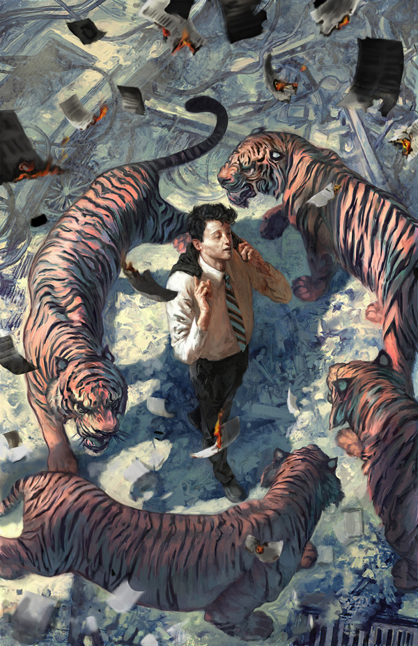 Comics on Behance #tigers