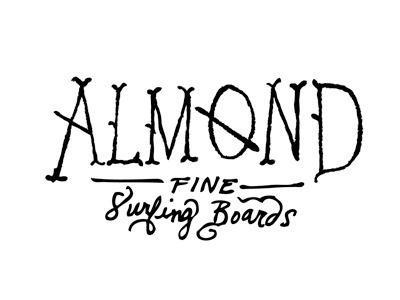 Almond Fine Surfing Boardsby Jennifer Hood #drawn #hand #typography