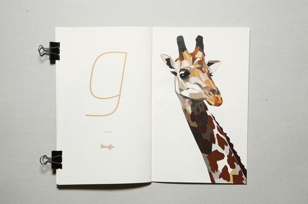 ABC #giraffe #book #typography