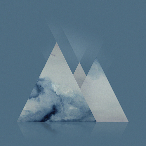 photo #mountain #water #color #triangle #gradient #blue #aparaats