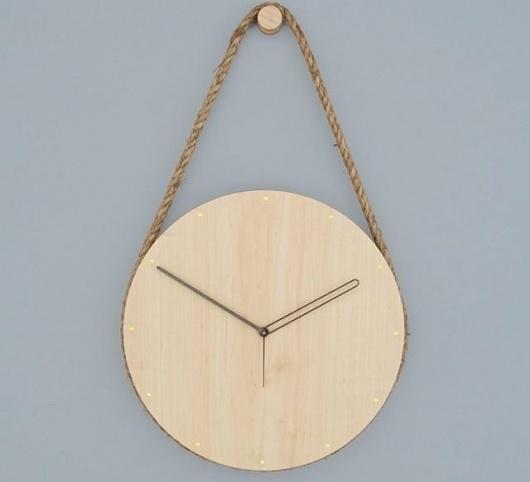 Accessories: Lukas Peet Hanging Clock : Remodelista #clock #grain