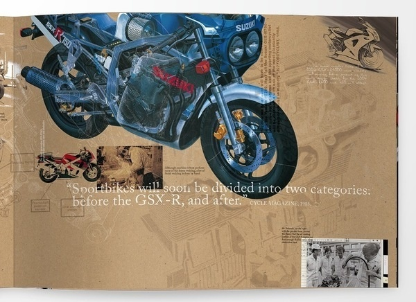 Suzuki - GSX-R #history #old #gsx #typography #design #motorbikes #suzuki #superbikes #brochure #new