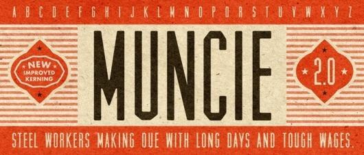 Lost Type Co-op | Muncie #font #retro #typography