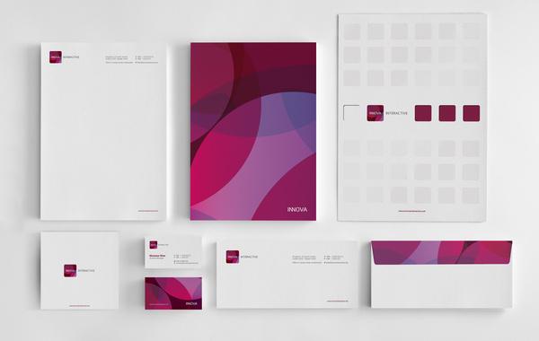 Innova Interactive Identity // Branding #stationary #branding