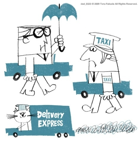 delivery.jpg (470×475) #blue #illustration #cartoon #black