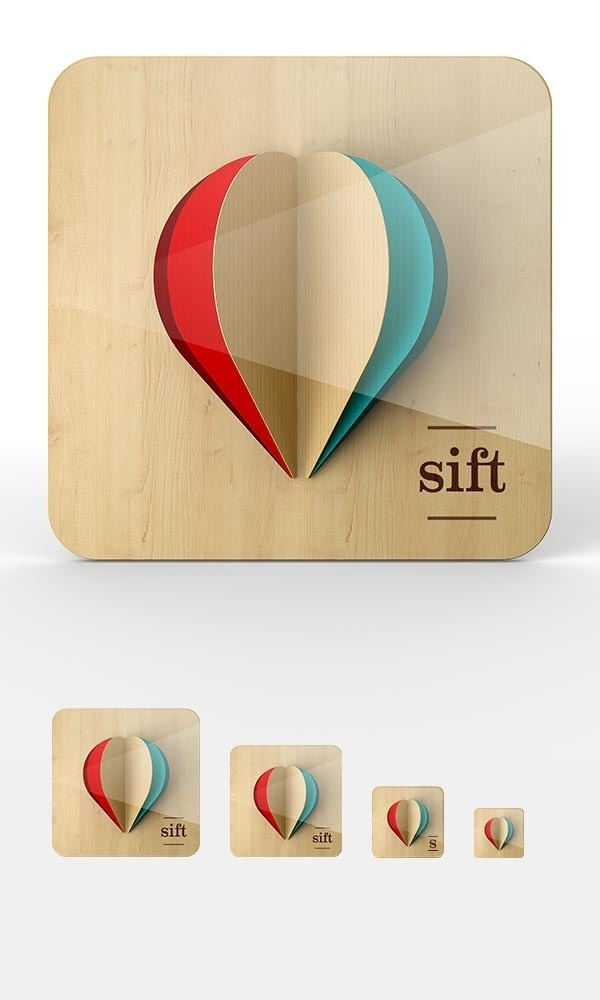 iOS Icon Proposal Work by Omar Puig for #icon #app #sift