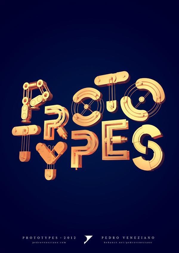 Prototypes on Behance #type #3d