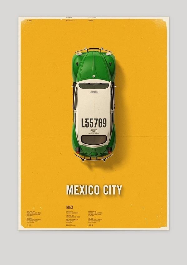 The Design Blog #mexico #city #taxi #poster