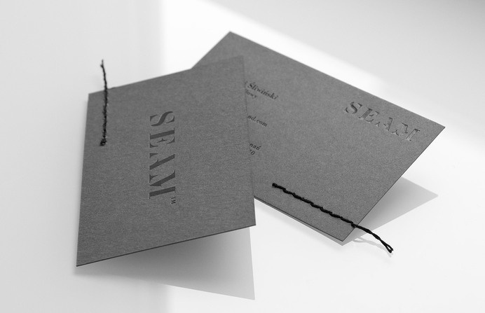 Seam - for brands.™ #stationery #business #card #print #sewing #stitching