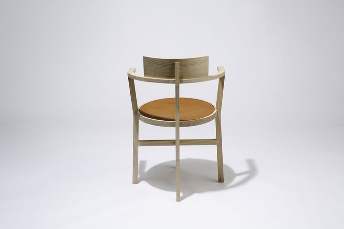 Wood & Leather Chair by PLDO & Savvy