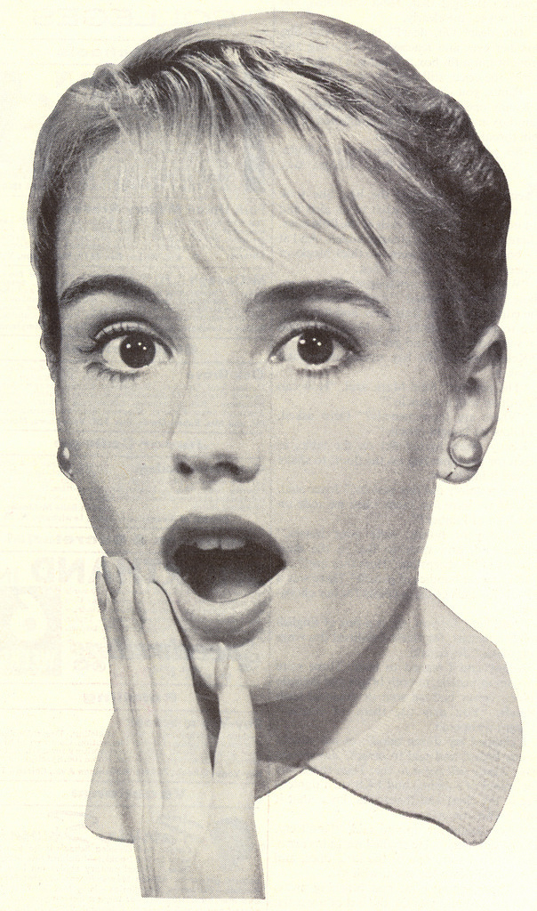1959-(via File Photo) | Flickr - Photo Sharing! #shock #woman #girl #wow #advertising #vintage #advert #face #50s