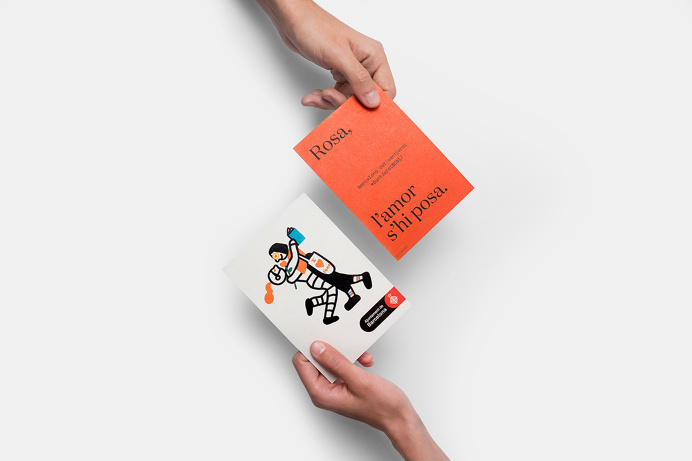 Visual identity and flyers designed by Requena featuring illustration by Olga Capdevila for Sant Jordi Festival 2017