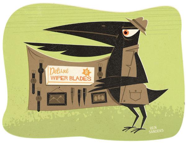Ben's Illustrations #sanders #vector #retro #ben