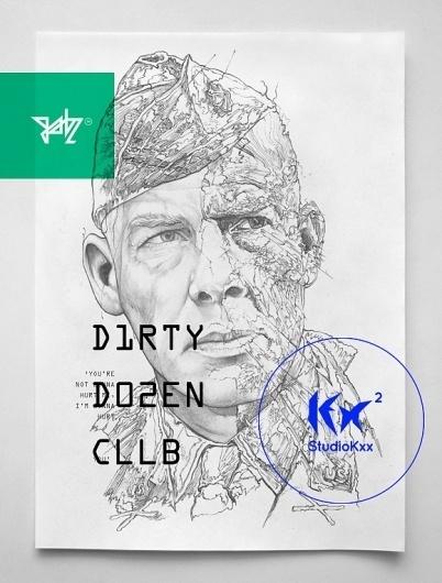 The Dirty Dozen - I Am Gabz #design #illustration #typography #poster