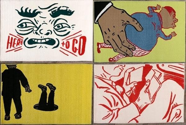 "Mark Mothersbaugh ""Rugs! Rugs! Rugs!"" At BLAST Gallery | Main | Living Proof Magazine | Art. Culture. Inspiration. #mark #inspiration #gallery #proof #blast #living #mothersbaugh #culture #art #rugs #main #magazine"