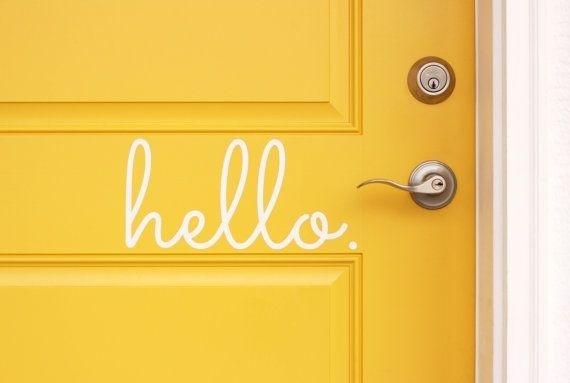 Stencil words on your front door Joyful Treasure Hunting #door