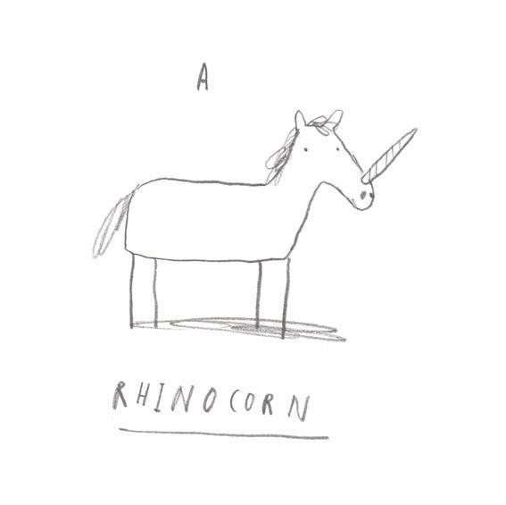 rhinocorn #unicorn #rhino #illustration #animal #funny #sketch