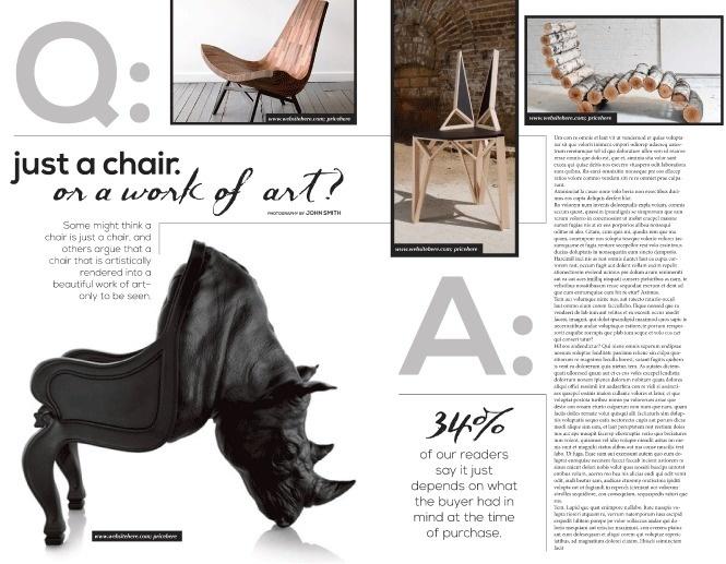 Portfolio / Layout / Q U0026 A Layout #interior #question #chairs #design