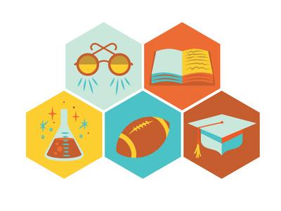 One College Avenue Icons #school #icons