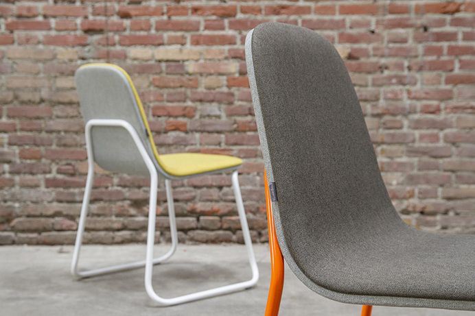 Jacob Nitz, stackable steel siren chair for Bogaerts label #chair