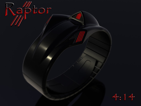 Raptor LED Watch #tech #amazing #modern #innovation #design #futuristic #gadget #ideas #craft #illustration #industrial #concept #art #cool
