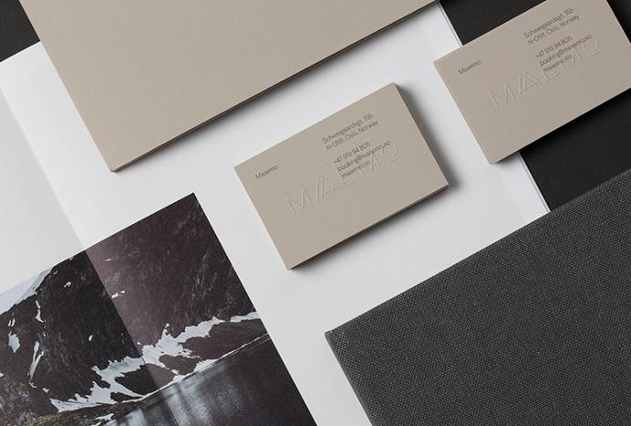 Maaemo by Bielke&Yang #stationary #business card #print