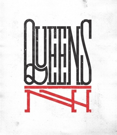 Queens NY Art Print by Andrei D. Robu | Society6 #type #lettering #identity