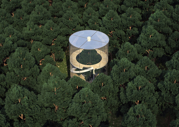 CJWHO ™ (A Labyrinth Abstracted: Tree In The House by...) #tree #labyrinth #design #landscape #wood #concept #architecture