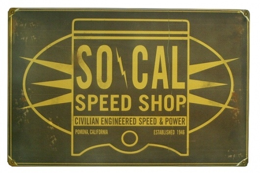 Tin Sign - SO-CAL Oil Can Piston – So-Cal Speed Shop & Vintage Car Parts – MonsterMarketplace.com #metal #typography