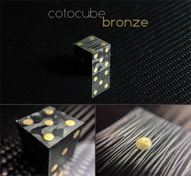 Cotocube Bronze! #carbon #carbonfiber #dice #bronze #luxury #cotocube #fancy #unique