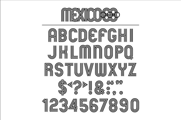 GRAPHIC AMBIENT » Blog Archive » 1968 Mexico Olympics, Mexico #60s #olympics #vintage #typography