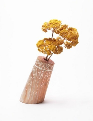 Buoy Vase by Kahokia Design, Brooklyn, NY #cluster #ny #vase #brooklyn #turned #design #decor #home #wood #paint #kahokia #star #nyc #flowers #decoration