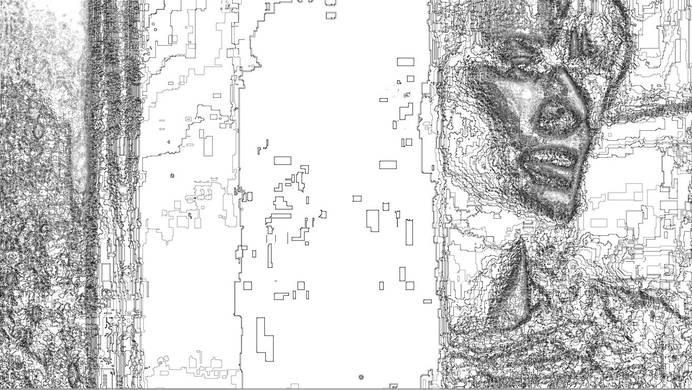 BIO MEKANIK [GOD DOES NOT DRAW STRAIGHT LINES] 02 #white #woman #black #johansson #digital #art #and #daniel