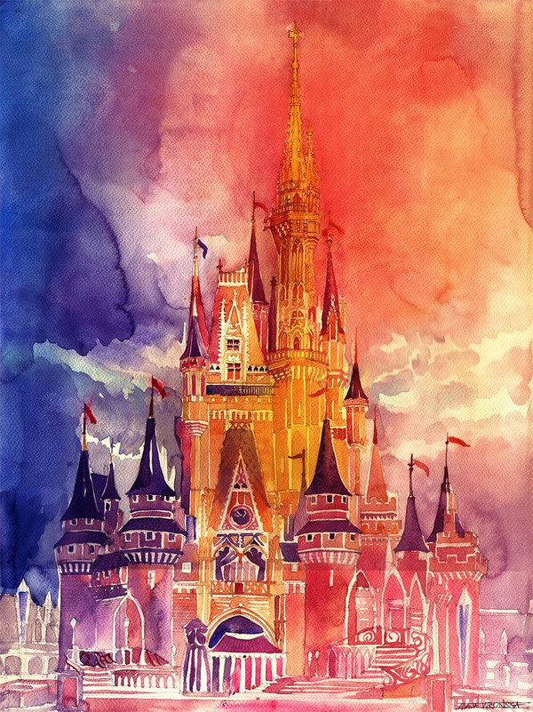 New Architectural Watercolors by Maja Wronska #illustration #watercolor #painting