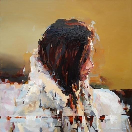 She's Slipping Away (15 pieces) - My Modern Metropolis #painting #bronaugh #joshua #girl