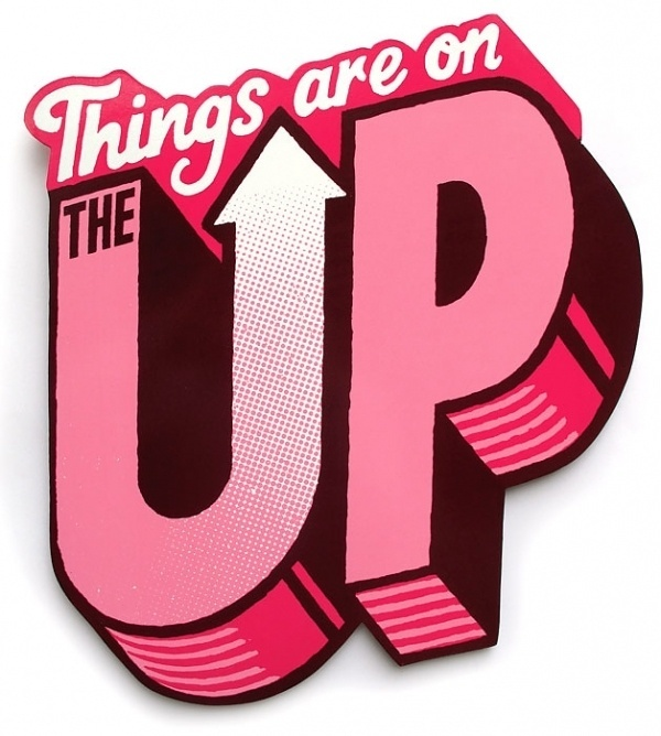 Things are on the up - Andy Smith Illustration #type #andysmith #custom #typography