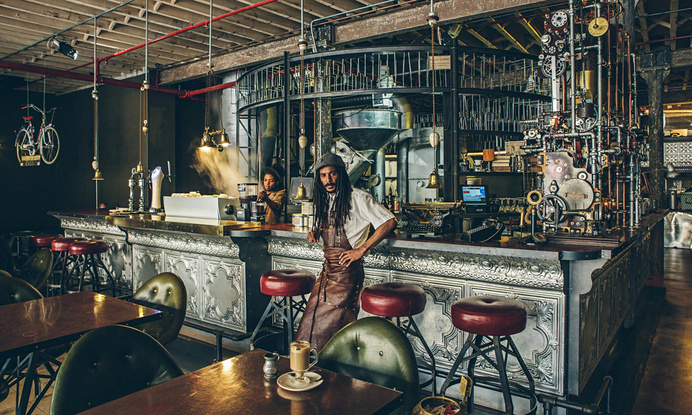 Steampunk Coffee Shop in Cape Town #coffee